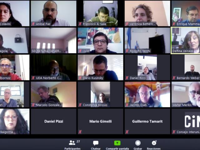 La reunión se realizó mediante videoconferencia