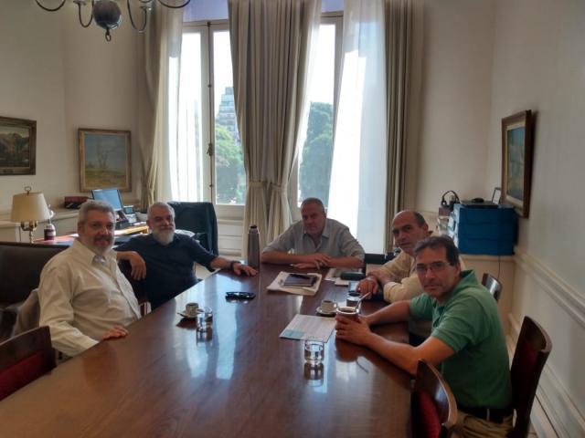Nuestros representantes junto al Secretario de Políticas Universitarias