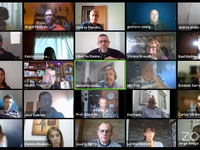 La presentación contó con una reunión por videollamada con todos los representantes de las seccionales de FAGDUT